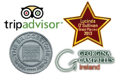 Recommended by Bridgestone Guide, Georgina Campbel, Lucinda O'Sullivan and tripadvisor